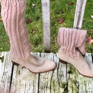 NWOT TIMBERLAND SWEATER BOOTS BOHO HEELS SLOUCH 7